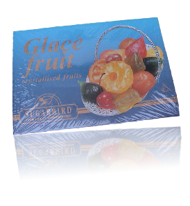 glace fruit, crystallised fruit
